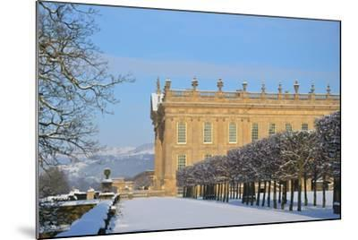 South Front, Chatsworth House, Derbyshire--Mounted Photographic Print