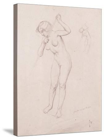 Figure Study for 'The Slaying of Orpheus'-F?lix Vallotton-Stretched Canvas Print