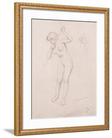 Figure Study for 'The Slaying of Orpheus'-F?lix Vallotton-Framed Giclee Print