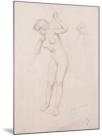 Figure Study for 'The Slaying of Orpheus'-F?lix Vallotton-Mounted Giclee Print
