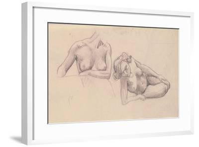 Two Studies of Female Nudes-F?lix Vallotton-Framed Giclee Print
