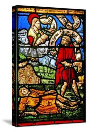 Window W2 Depicting Cain Kills Abel--Stretched Canvas Print