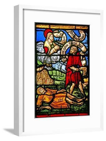 Window W2 Depicting Cain Kills Abel--Framed Giclee Print