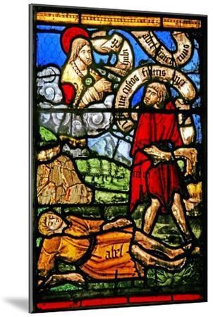 Window W2 Depicting Cain Kills Abel--Mounted Giclee Print