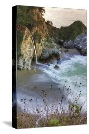Scene at Waterfall Beach-Vincent James-Stretched Canvas Print