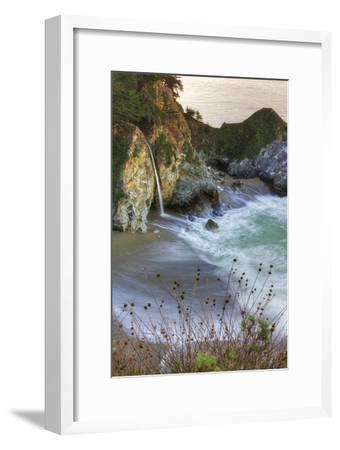 Scene at Waterfall Beach-Vincent James-Framed Photographic Print