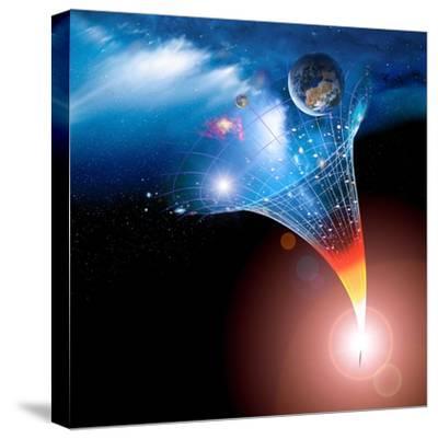 Big Bang Origin of the Universe, Artwork-Detlev Van Ravenswaay-Stretched Canvas Print