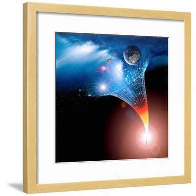Big Bang Origin of the Universe, Artwork-Detlev Van Ravenswaay-Framed Premium Photographic Print