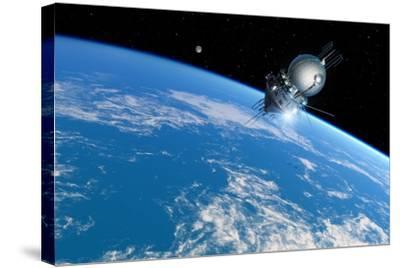 Vostok 1 Orbiting the Earth, 1961-Detlev Van Ravenswaay-Stretched Canvas Print