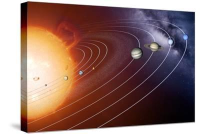 Solar System Orbits, Artwork-Detlev Van Ravenswaay-Stretched Canvas Print