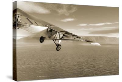 First Solo Transatlantic Flight, 1927-Detlev Van Ravenswaay-Stretched Canvas Print