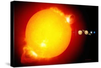Sun And Its Planets-Detlev Van Ravenswaay-Stretched Canvas Print