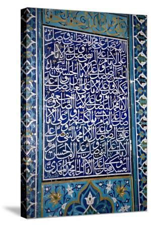 Calligraphic Mosaic, Iran-Dirk Wiersma-Stretched Canvas Print