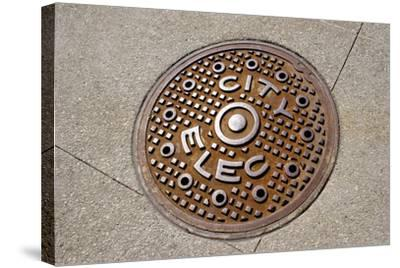 Manhole Cover In Chicago-Mark Williamson-Stretched Canvas Print