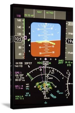 Aeroplane Control Panel Display-Mark Williamson-Stretched Canvas Print