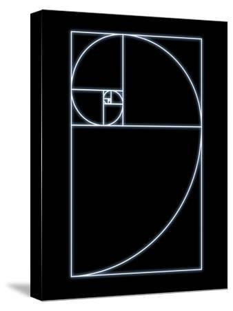 Fibonacci Spiral, Artwork-SEYMOUR-Stretched Canvas Print