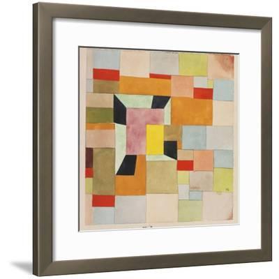 Split Coloured Rectangles-Paul Klee-Framed Premium Giclee Print