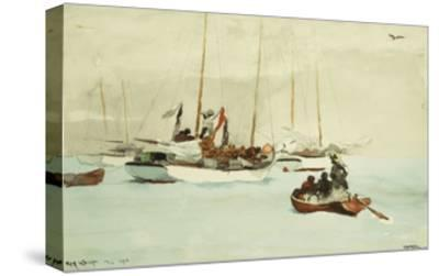 Schooners at Anchor, Key West-Winslow Homer-Stretched Canvas Print