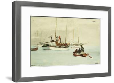 Schooners at Anchor, Key West-Winslow Homer-Framed Giclee Print