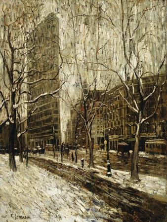 The Flatiron Building, New York-Ernest		 Lawson-Framed Giclee Print