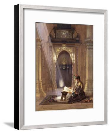 In the Mosque-Carl Friedrich Heinrich Werner-Framed Giclee Print