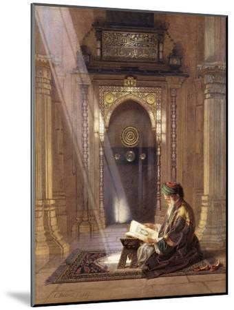 In the Mosque-Carl Friedrich Heinrich Werner-Mounted Giclee Print