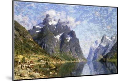 Hardanger Fjord, Norway-Normann Adelsteen-Mounted Giclee Print