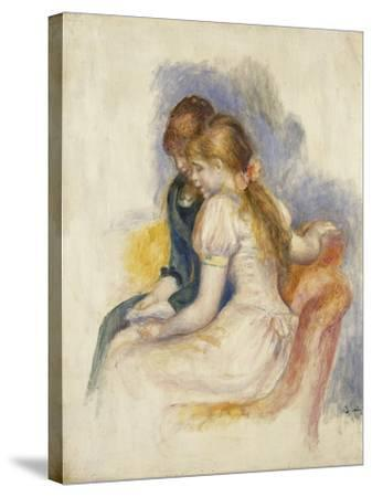 The Lecture-Pierre-Auguste Renoir-Stretched Canvas Print