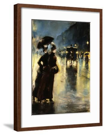 Nactbeleuchtung-Lesser Ury-Framed Giclee Print