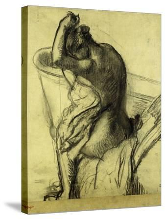 After the Bath-Edgar Degas-Stretched Canvas Print