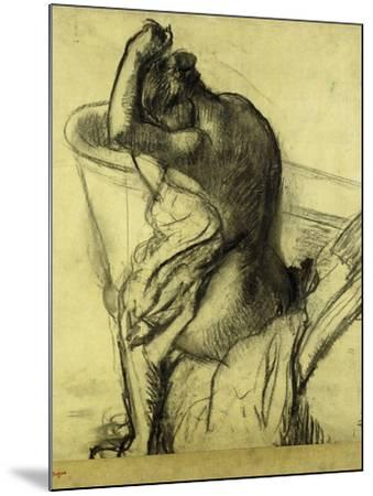After the Bath-Edgar Degas-Mounted Giclee Print