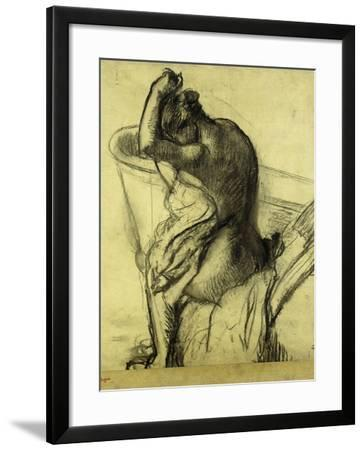 After the Bath-Edgar Degas-Framed Giclee Print