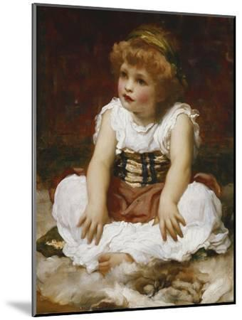 Portrait of a Girl seated on a Rug-Frederick Leighton-Mounted Giclee Print
