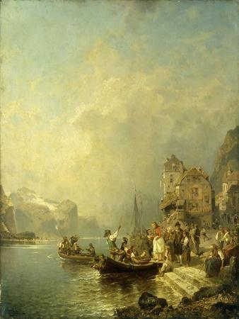 The Farewell Party-Franz Richard Unterberger-Stretched Canvas Print