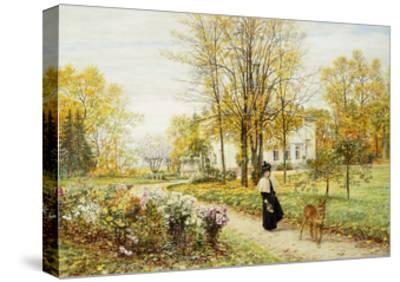 Promenade on an Autumn Day-Marie Francois Firmin-Girard-Stretched Canvas Print