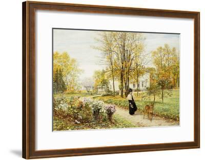 Promenade on an Autumn Day-Marie Francois Firmin-Girard-Framed Giclee Print