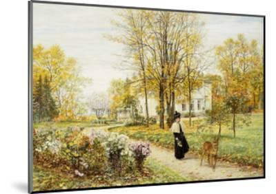 Promenade on an Autumn Day-Marie Francois Firmin-Girard-Mounted Giclee Print