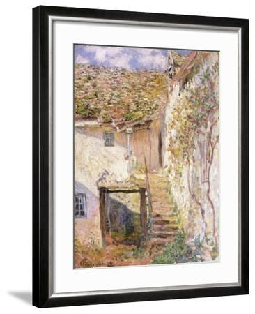 A Path on the Edges of Pontoise-Camille Pissarro-Framed Giclee Print