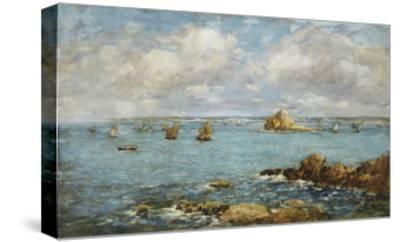Bay of Douarnenez-Eug?ne Boudin-Stretched Canvas Print