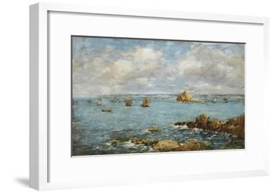 Bay of Douarnenez-Eug?ne Boudin-Framed Giclee Print