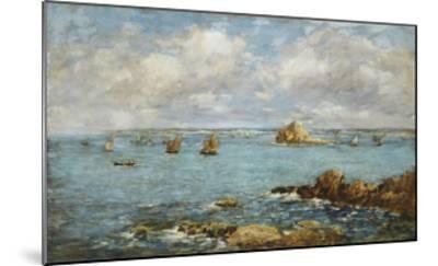 Bay of Douarnenez-Eug?ne Boudin-Mounted Giclee Print