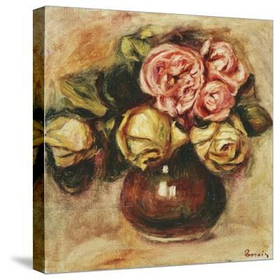 Vase of Roses-Pierre-Auguste Renoir-Stretched Canvas Print