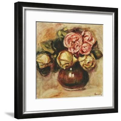 Vase of Roses-Pierre-Auguste Renoir-Framed Giclee Print