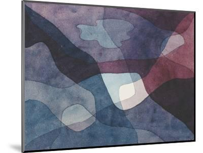 Mountain and Synthetic Air-Paul Klee-Mounted Premium Giclee Print