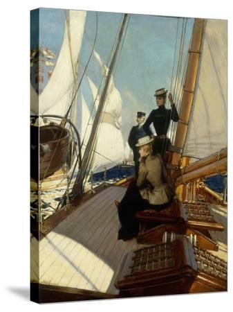 An Afternoon at Sea-Albert Lynch-Stretched Canvas Print