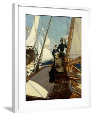 An Afternoon at Sea-Albert Lynch-Framed Giclee Print