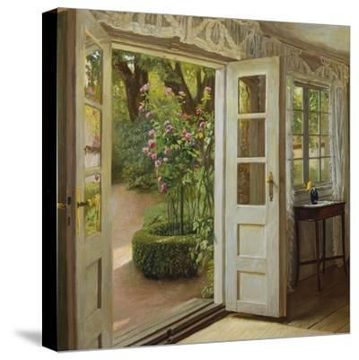The French Windows-John Leopold Lubschitz-Stretched Canvas Print