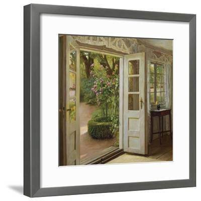 The French Windows-John Leopold Lubschitz-Framed Giclee Print