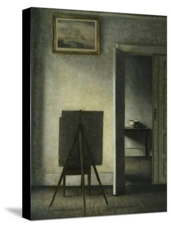 An Interior with the Artist's Easel-Vilhelm		 Hammershoi-Stretched Canvas Print