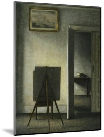 An Interior with the Artist's Easel-Vilhelm		 Hammershoi-Mounted Giclee Print